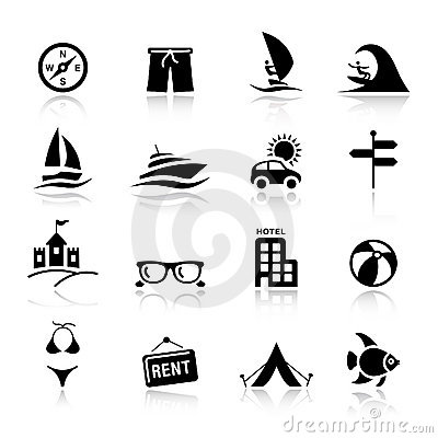 Free Basic - Vacation Icons Stock Photo - 20336690
