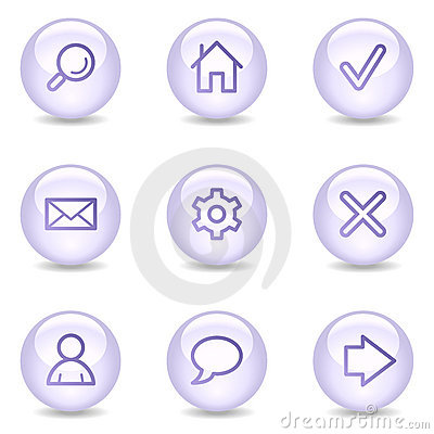 Basic web icons, glossy pearl series
