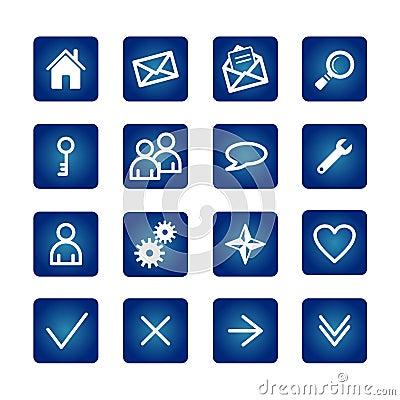 Free Basic Web Icons Set Stock Images - 1574484
