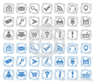 Basic web icons set #7