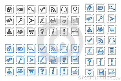 Basic web icons set #8