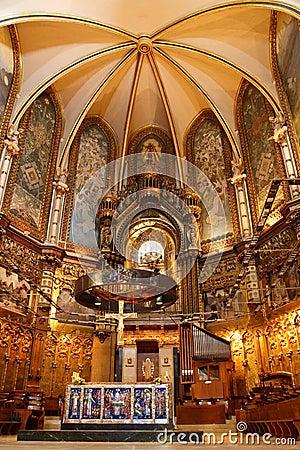 Free Basilica At Montserrat Monastery Near Barcelona Stock Image - 11806561