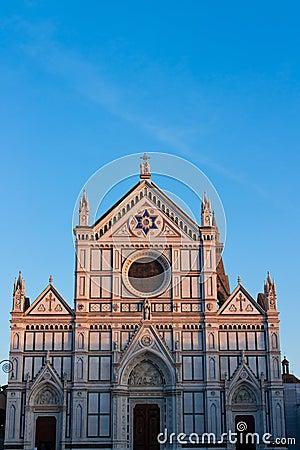 Basilica di Santa Croce with negative space