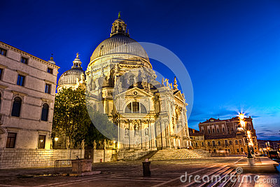The Basilica di Santa Maria della Salute, the Basilica of Saint Mary of Health, Venice, Italy