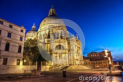 The Basilica di Santa Maria della Salute, the Basilica of Saint Mary of Health, Venice, Italy