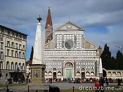 Basilica di Santa Maria Novella Florence Italy Editorial Photo