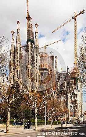 Basilica and Expiatory Church of the Holy Family Editorial Photo