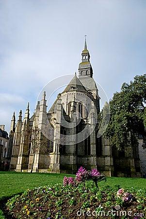 The basilica and garden of Dinan