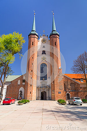 Basilica of The Holy Trinity in Gdansk Oliwa Editorial Image