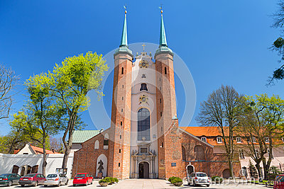 Basilica of The Holy Trinity in Gdansk Oliwa Editorial Photo