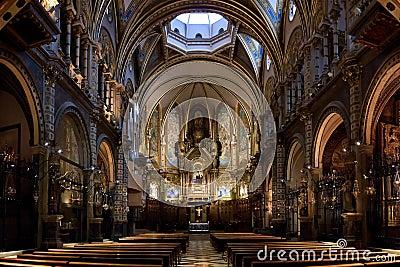 Basilica of Montserrat interior view