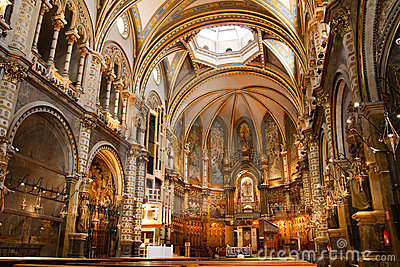 Basilica at the Montserrat Monastery, Spain