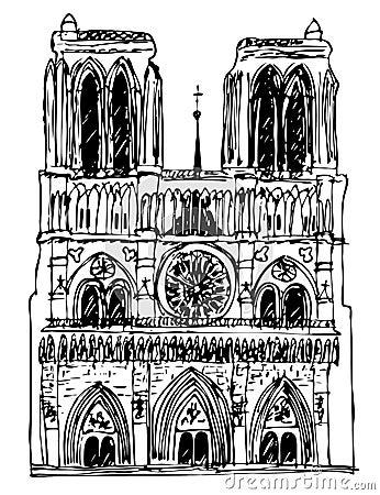 Basilica Notre Dame - vector