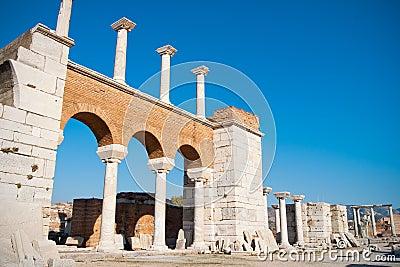 Basilica ruins in Ephesus