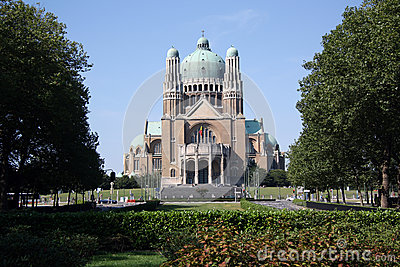 Basilica of the Sacred Heart, Brussels Editorial Photography