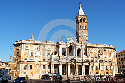 Basilica of Saint Mary Major in Rome Editorial Stock Image