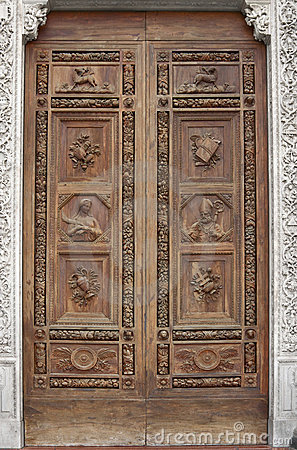 Basilica of Santa Croce door