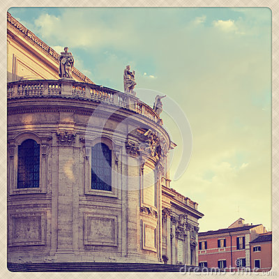 Free Basilica Santa Maria Maggiore Royalty Free Stock Photo - 27824225