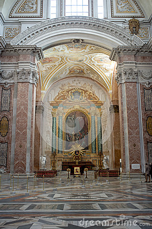 The Basilica of St. Mary of the Angels and the Martyrs in Rome Editorial Image