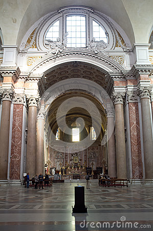The Basilica of St. Mary of the Angels and the Martyrs in Rome Editorial Stock Photo