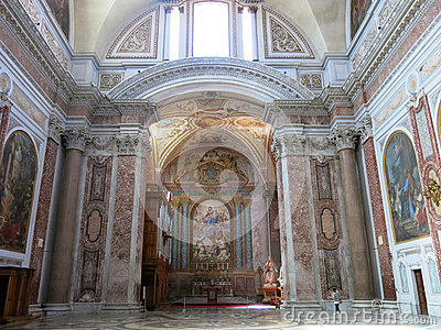 Basilica of St. Mary of the Angels and the Martyrs, Rome Editorial Photography