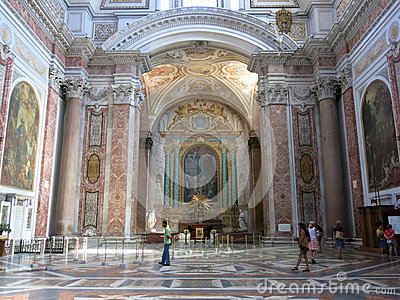 Basilica of St. Mary of the Angels and the Martyrs, Rome Editorial Stock Image