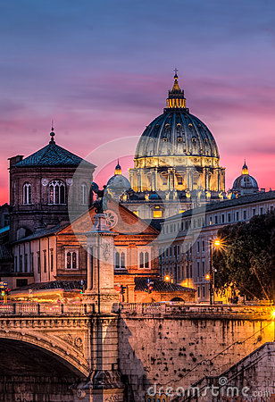 Free Basilica St Peter Rome Royalty Free Stock Image - 69796466