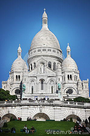 Basilique du Sacré-Cœur paris Editorial Stock Photo