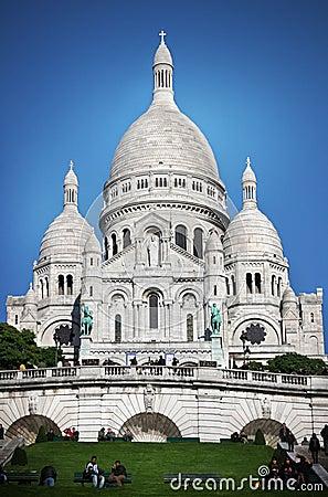 Basilique du Sacré-Cœur paris Editorial Stock Photo