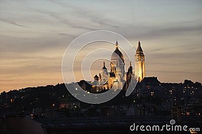 Basilique du Sacre Couer at dusk
