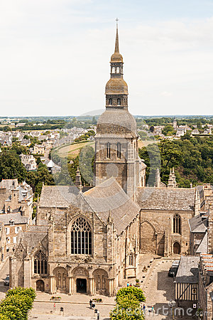 Free Basilique Saint-Sauveur In Dinan, France Royalty Free Stock Image - 67614056