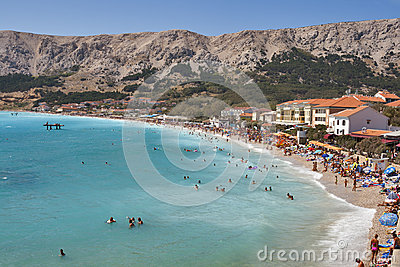 Baska laguna, Croatia. Editorial Stock Image