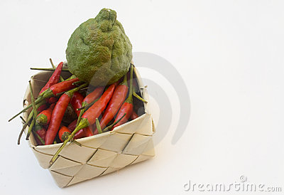 Basket of asian ingredients