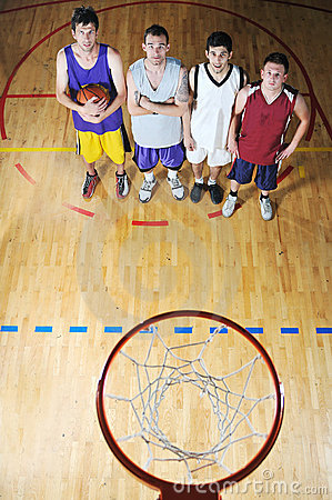 Free Basket Ball Game Player At Sport Hall Stock Image - 9784321
