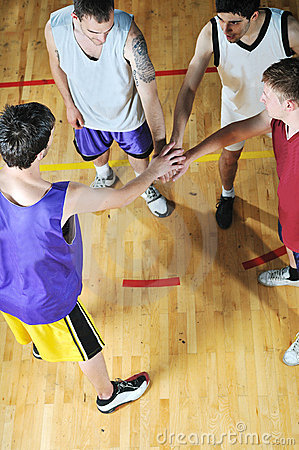 Free Basket Ball Game Player At Sport Hall Stock Images - 9784544