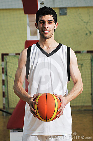 Basket ball game player portrait