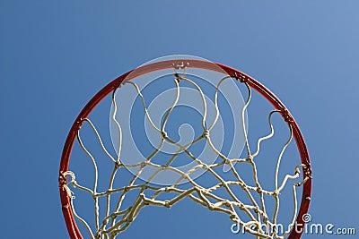 Basket ball hoop from below