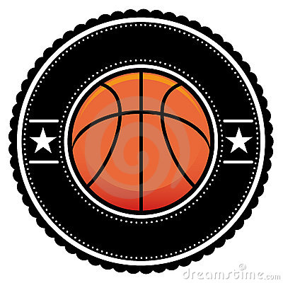 Basket Ball Logo Retro Style