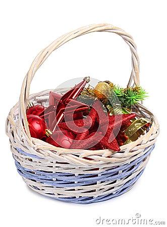 Basket and balls