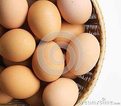 Basket of Brown Hen s Eggs