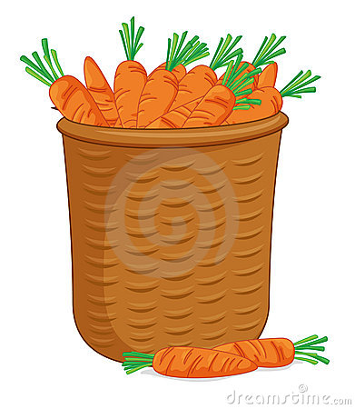 Basket of carrots