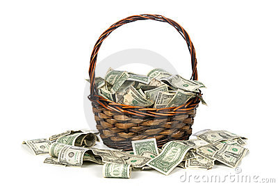 Basket of cash