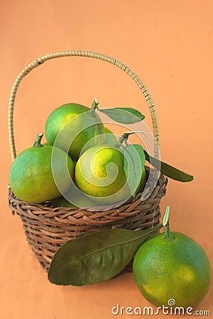 A basket of citrus