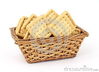 Basket of Coconut Flavored Cookies