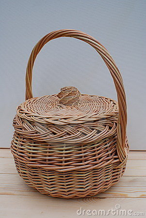 Basket with a cover.