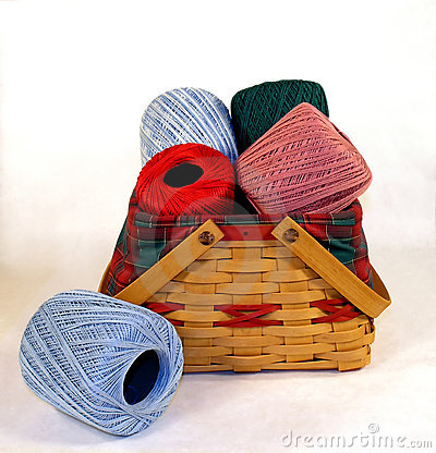 Basket of Crochet String