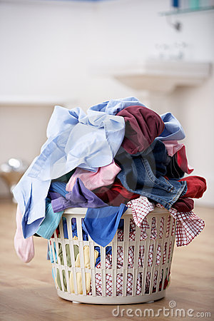 Basket of dirty washing