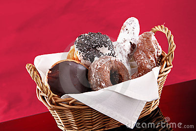 Basket of doughnuts