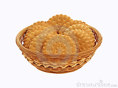 Basket Filled Vanilla Flavored Cookies