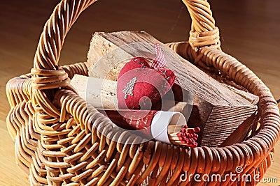 Basket of firewood